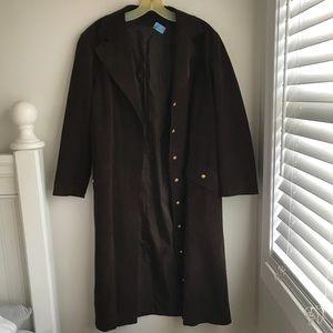 Jackets & Blazers - Brown Suede Trench Coat